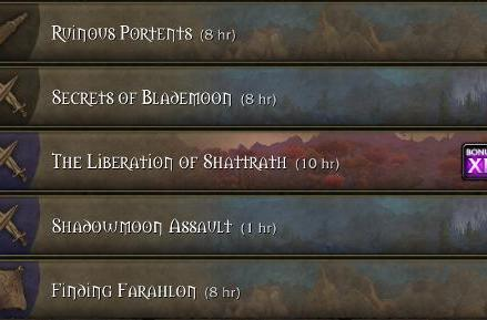 Warlords of Draenor: Garrison mission rewards at a glance