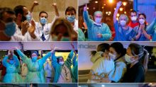 Healthcare staff win top Spain prize for 'spirit of sacrifice'