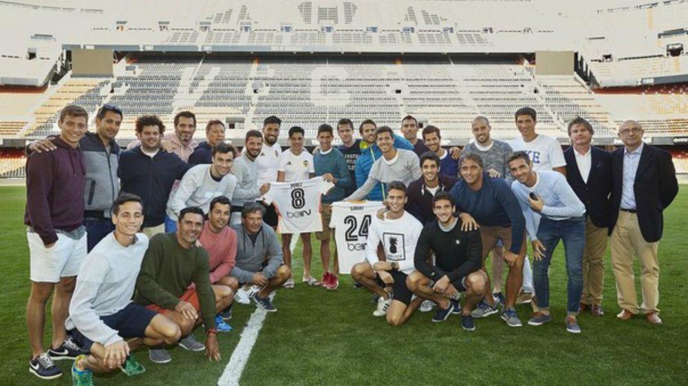 Los Leones visitaron a Enzo Pérez y Ezequiel Garay