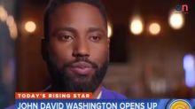 John David Washington shuts down interviewer when he asks about his dad, Denzel