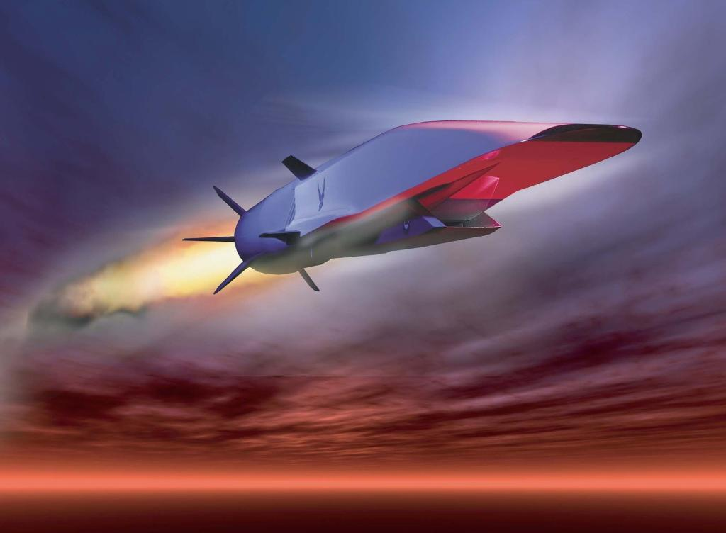 A photo illustration courtesy of the US Air Force shows the hypersonic X-51A Waverider cruise missile (AFP Photo/Handout)