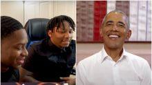 Barack Obama Helps 'Phil Collins Twins' Understand Bob Dylan