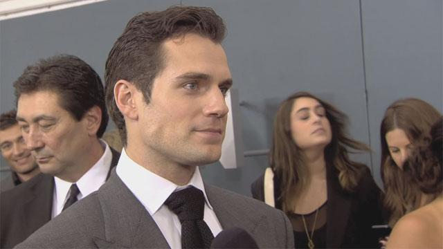 Henry Cavill on the 'Man of Steel' red carpet