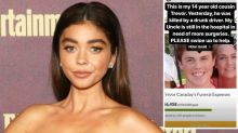 'Modern Family' star Sarah Hyland fires back at trolls after her cousin is killed by alleged drunk driver