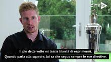 "Kevin De Bruyne: ""Guardiola si fida ciecamente di me"""