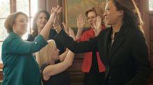 La foto de candidatas presidenciales demócratas que mostró el notable pero perdido empuje electoral femenino