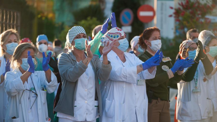 Stocks climb amid further signs of coronavirus plateau in Europe
