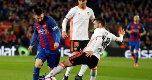 Foot - ESP - Le Barça vient à bout de Valence avec un doublé de Lionel Messi