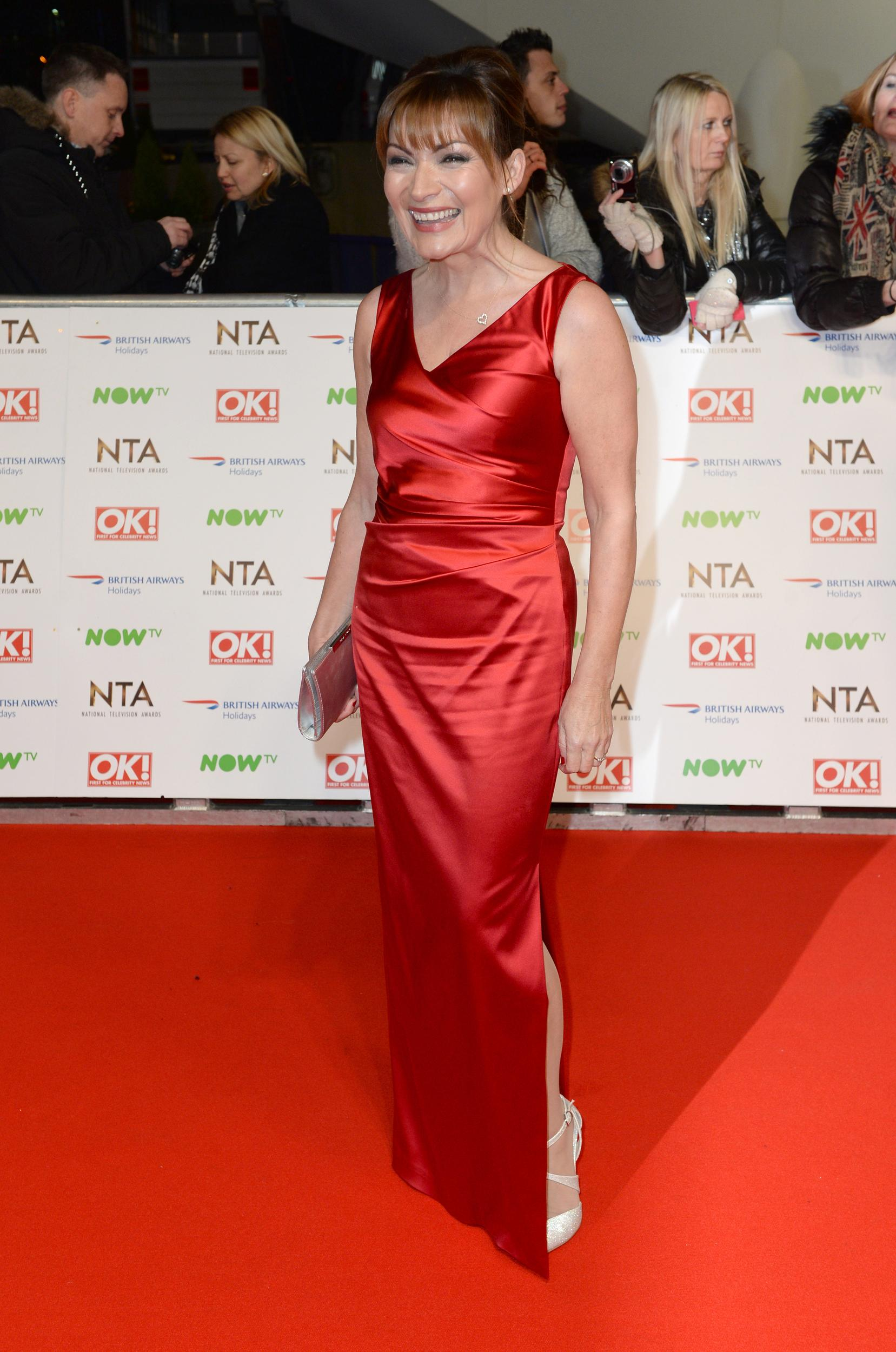 Lorraine Kelly attending the National Television Awards 2016 at the O2 Arena, London.Copyright Doug Peters EMPICS Entertainment