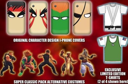 Super Street Fighter IV pre-order bonuses include costumes for your fighters, your phone, and yourself