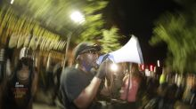 Portland protest strives for peace as U.S. forces drawn down