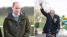 Prince William makes donation to 'legend' Captain Tom Moore's £18m NHS fundraiser