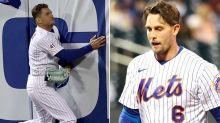Mets' win tempered by Albert Almora Jr., Jeff McNeil injuries
