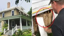 Couple's 'insane' discovery hidden inside walls of 105-year-old home