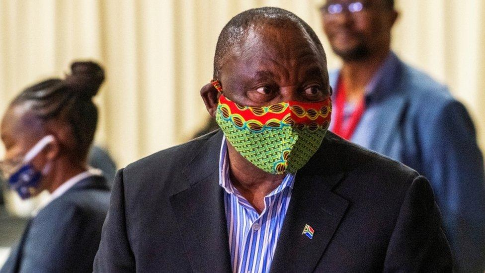 Coronavirus: South Africa's President Cyril Ramaphosa self-quarantines