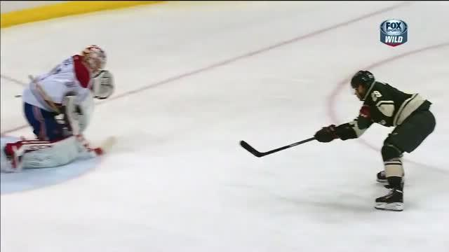 Jason Pominville scores on the breakaway