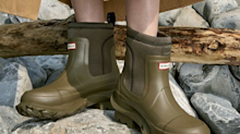 These all-weather Hunter boots are stylish enough to wear to work