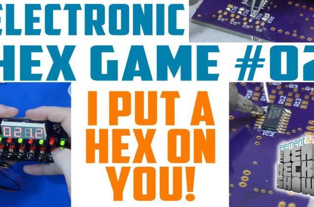 Ben Heck's Hex game: Fun with soldering