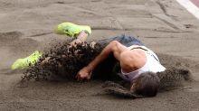 Belgian decathlete Thomas van der Plaetsen suffers brutal leg injury, fall in long jump