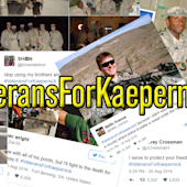 US military members are showing support for Colin Kaepernick with #VeteransForKaepernick