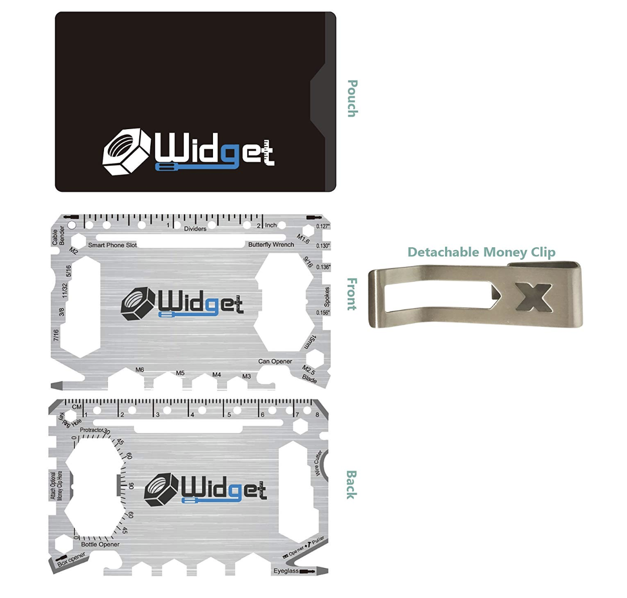 43-in-1 Multi-Purpose Survival Pocket Tool With Money Clip
