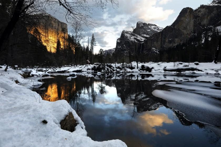 news.yahoo.com: Photos: Yosemite reopens under a blanket of snow