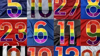 Foot - L1/L2 - Ligue1 / Ligue2: des maillots aux couleurs du mouvement LGBT pour lutter contre l'homophobie