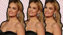 Lily James' Burberry ball gown wasn't the most interesting aspect of her BAFTAs outfit