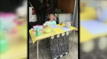 Girl, 7, sets up lemonade stand to raise money to fight human trafficking: 'I want other kids to have a fresh start'
