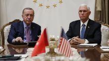 Pence, Erdogan hold Syria ceasefire talks