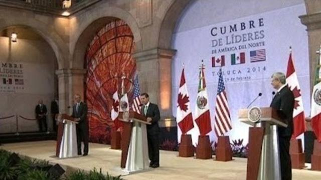 President Obama in Mexico for Summit of North American Leaders