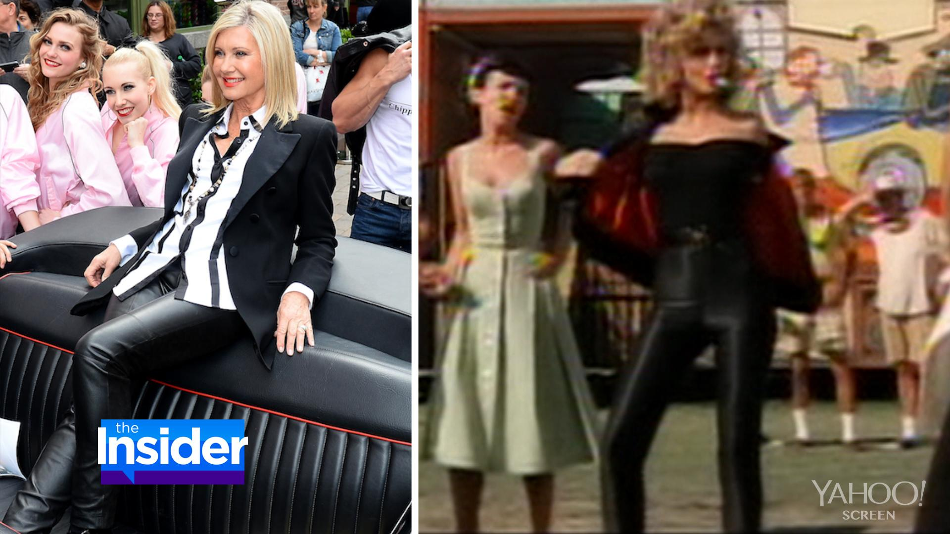 0dc54b000 Olivia Newton-John Slips Into Black Leather Pants 36 Years After ...