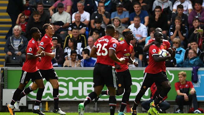 Lukaku, Pogba and Martial on target again as Manchester United hammer Swansea