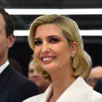Ivanka Trump pairs retro hairdo with dramatic collar for Louis Vuitton factory tour
