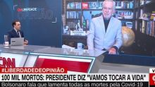 """Âncora da CNN rebate Garcia sobre cloroquina: """"Ninguém provou que está funcionando"""""""