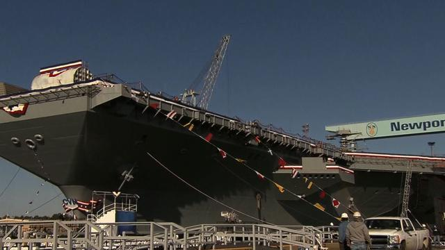 Navy expected to launch the Gerald R. Ford aircraft carrier