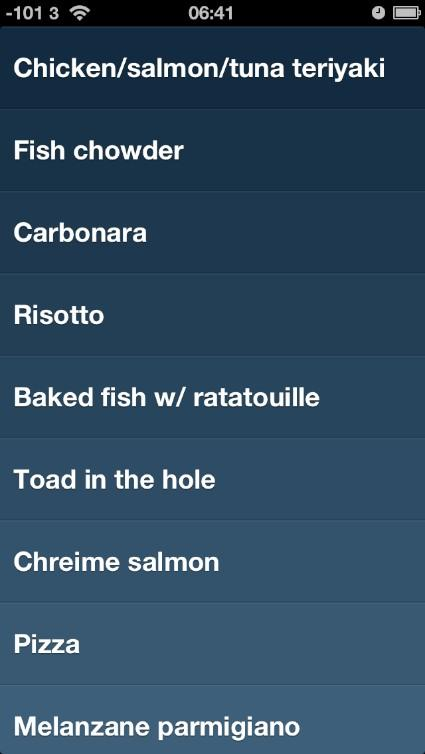 Lifehack: Use a to-do app for cooking inspiration