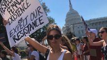 Emily Ratajkowski shamed, told to 'put on a bra' while protesting Kavanaugh