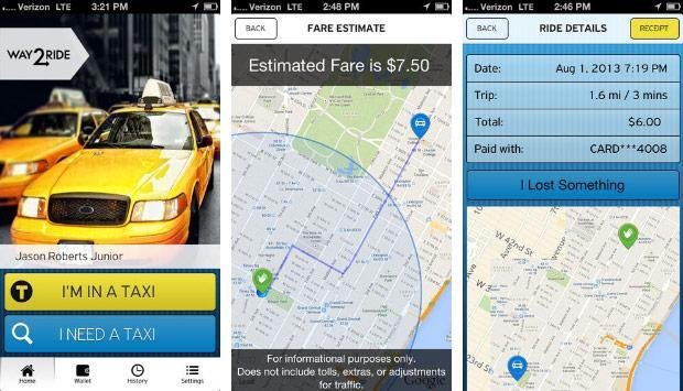 VeriFone's Way2ride app lets New Yorkers pay for a cab by tapping their phone, sans NFC