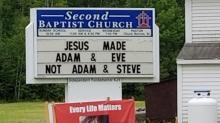 Church defends homophobic sign: LGBTQ community is 'headed for destruction'