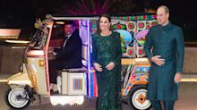 Kate Middleton wows in sparkling emerald green gown in Pakistan