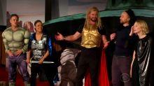 Cast of 'Thor: Ragnarok' remakes film as live play