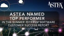 Astea International Named Top Performer in the Summer 2019 FSM Software Customer Success Report