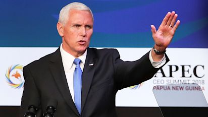 Pence throws down gauntlet in trade dispute with China