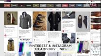Pinterest & Instagram to add buy links