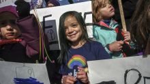 7-year-old celebrates her birthday with anti-Trump protest: 'Time's up for the bad stuff'