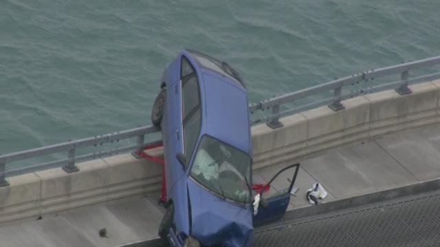 Serious crash on bridge