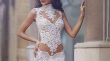 'What dress?': Baffling cut-out bridal gown sparks confusion