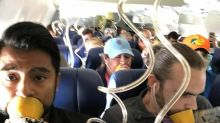Former flight attendant says many people on damaged plane were not using their masks correctly