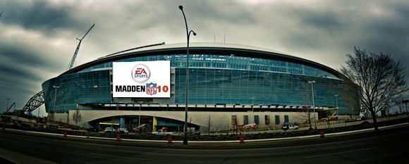 Play Madden in a football stadium ... on the big screen!